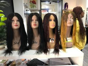In The Shop wig display