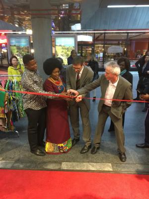 Inside Africa Geneva Airport opening ribbon cutting