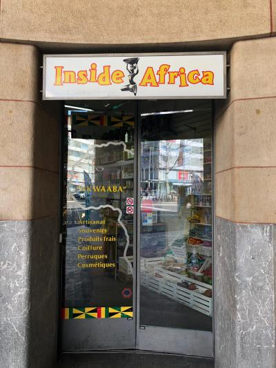 Inside Africa Lausanne entrance