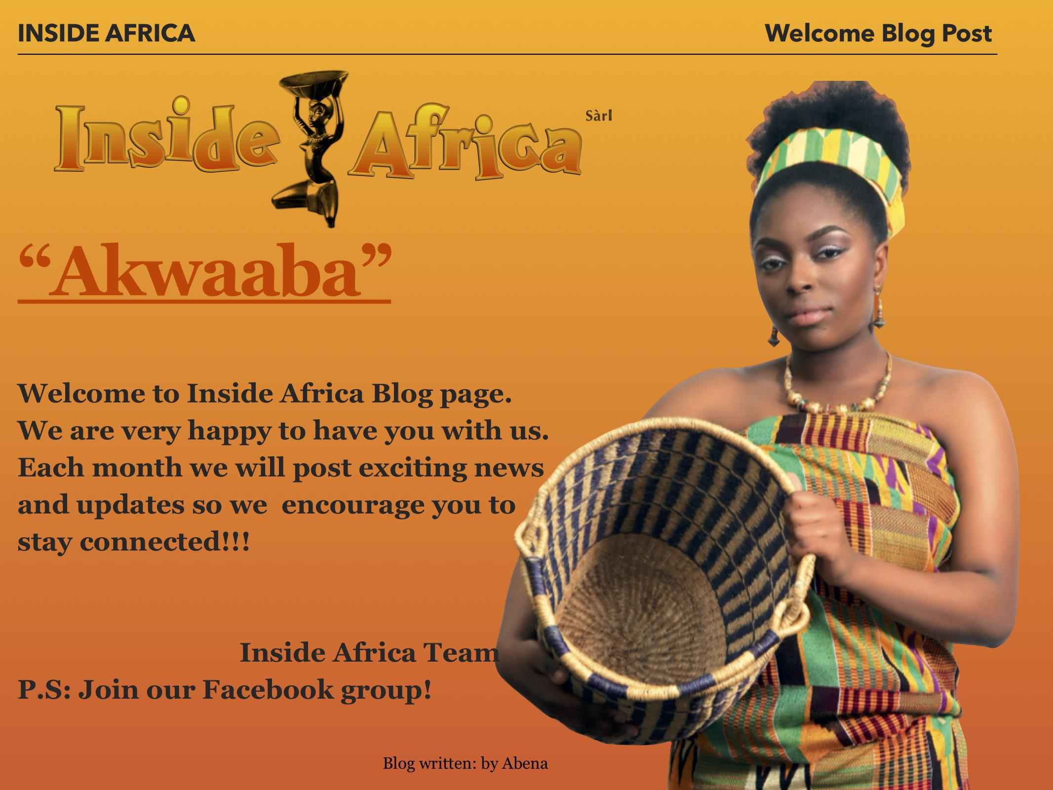 Welcome message form Inside Africa