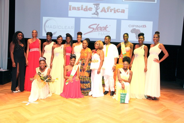 Gala participants posing on stage