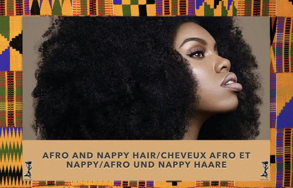Woman with natural Afro hair style
