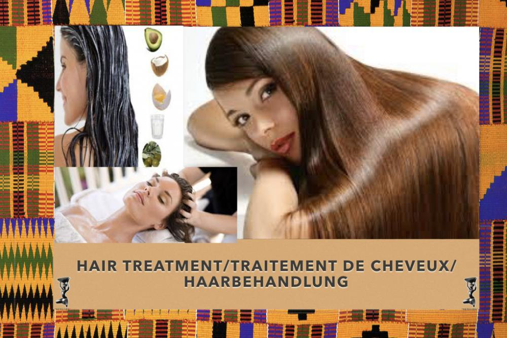 Woman with hair treatment