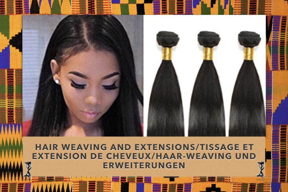 Hair weaving and extensions