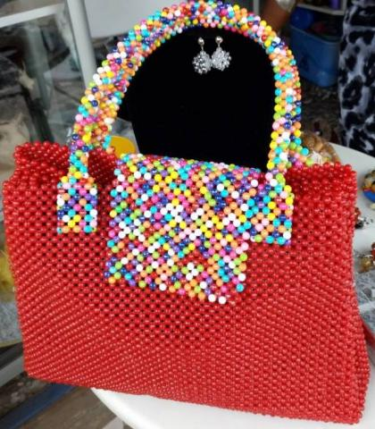 Multicolor Beaded Bag